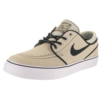 Nike Kids' Stefan Janoski (GS) Grey Suede Skate Shoes