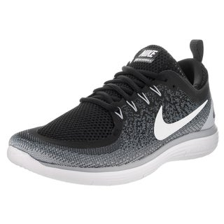 Nike Men's Free Rn Distance 2 Black Synthetic-leather Running Shoes