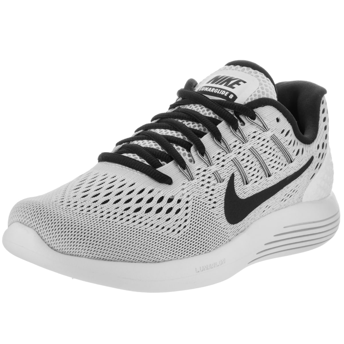 Nike Women's Lunarglide 8 Running Shoes (6.5), White (lea...