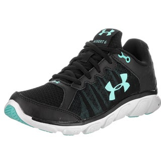 Under Armour Women's Micro G Assert 6 Black Synthetic Leather Running Shoes