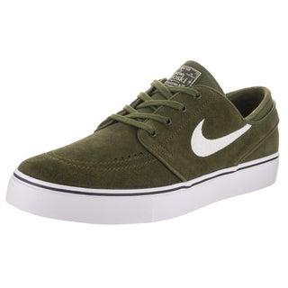 Nike Men's Zoom Stefan Janoski Green, White, Black Suede Skate Shoes