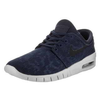 Nike Men's Stefan Janoski Max Blue Synthetic Leather Skate Shoes