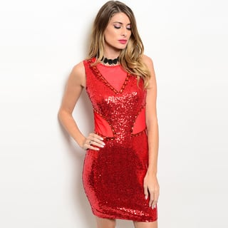 Shop the Trends Women's Sleeveless Sequined Mesh Bodycon Dress|https://ak1.ostkcdn.com/images/products/14084022/P20694499.jpg?impolicy=medium