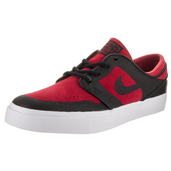 ad7ebc80ae2 Nike Men  x27 s SB Stefan Janoski Red Black Suede Skate Shoes. Click to Zoom