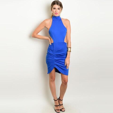 Shop The Trends Women's Mock Neck Sleeveless Dress with Waist Cutout Designs