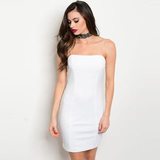 Shop The Trends Women's White Spaghetti Strap Bodycon Dress