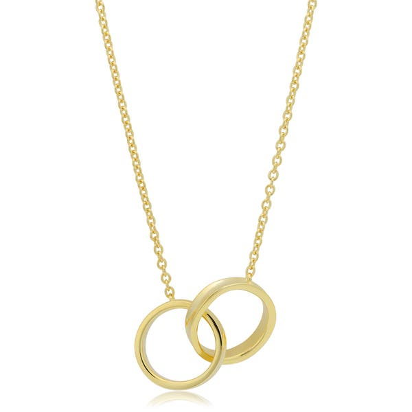 27df5767a70f0 Shop Fremada 14k Yellow Gold Over Sterling Silver Double Circle ...