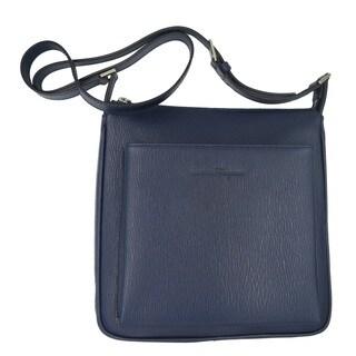 Salvatore Ferragamo Navy Revival Leather Crossbody Bag