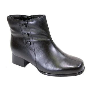 Fic Peerage Demi Women's Leather Extra-wide Bootie