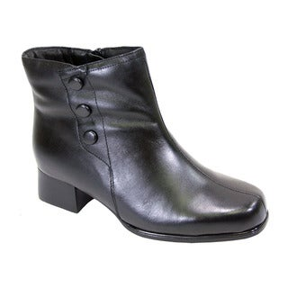 Fic Peerage Demi Women's Leather Extra-wide Bootie