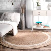 Oliver & James Cattelan Braided Natural Jute Area Rug - 8' Round