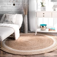 Strick & Bolton Cattelan Braided Natural Jute Area Rug - 6' Round