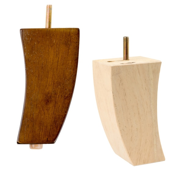 MJL Furniture Designs Set Of 4 Medium Curved Wooden Furniture Legs