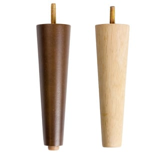 MJL Furniture Designs Set of 4 Medium Cone Spindle Wooden Furniture Legs