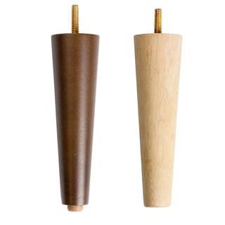 MJL Furniture Designs Set of 4 Medium Cone Spindle Wooden Furniture Legs