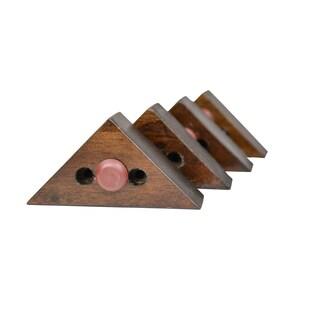 MJL Furniture Designs Set of 4 Triangle Wooden Furniture Feet
