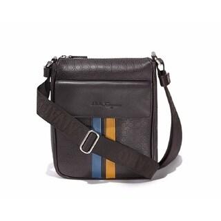 Salvatore Ferragamo Brown Leather Gancini Messenger Bag