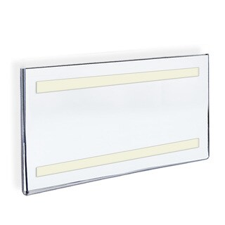 Azar 122037 17 W x 11 H Acrylic Sign Holder with Adhesive Tape , 10Pack