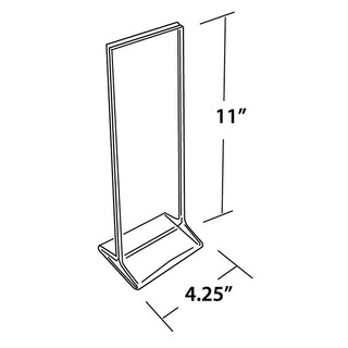 Azar 142745 4.25 W x 11 H Top-Load Acrylic Sign Holder, 10Pack