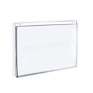 Azar 162723 7 W x 5 H Wall U-Frame Acrylic Sign Holder, 10Pack