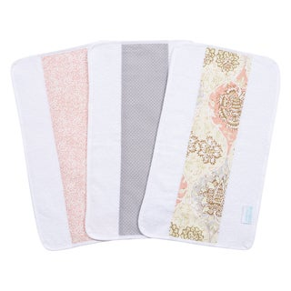 Trend Lab Waverly Baby Rosewater Glam Cotton Jumbo Burp Cloth Set (Pack of 3)