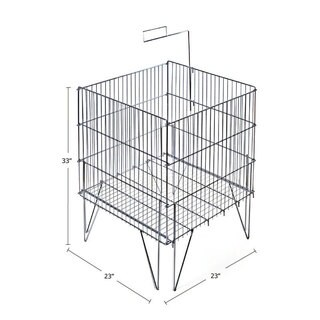 Azar 300704 Square Large Wire Bin (Stainless)