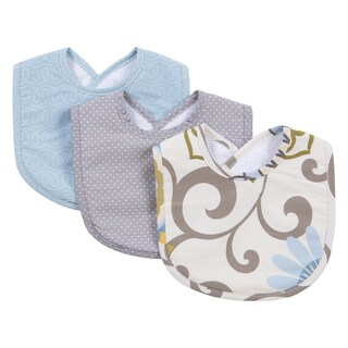 Trend Lab Waverly Baby Pom Pom Multicolor Cotton Spa Bib Set (Pack of 3)