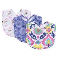 Trend Lab Waverly Baby Santa Maria Terry Cotton Bib Set (Pack of 3)
