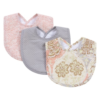 Trend Lab Waverly Baby Rosewater Glam Multicolor Cotton Bib Set (Pack of 3)
