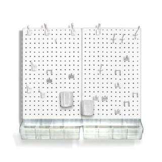Azar 900945-WHT 70-Piece Pegboard Organizer Kit (2- 13.5 x 22)