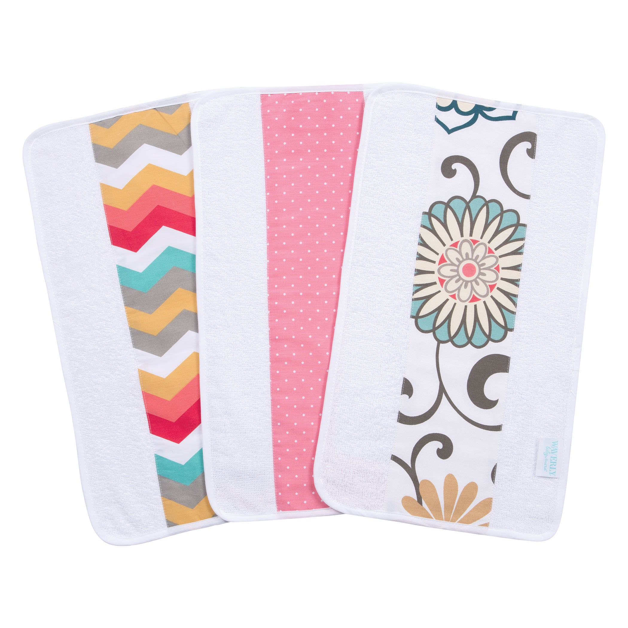 Trend Lab Waverly Baby Pom Pom Play Jumbo Burp Cloth Set ...