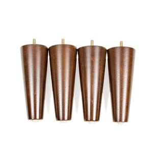 MJL Furniture Designs Short Mid-Century Modern 6-1/4-inch Tall Cone Wooden Furniture feet (Set of 4)