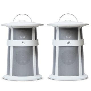 Acoustic Research Lighthouse Outdoor Wireless Speakers, set of 2 (White)