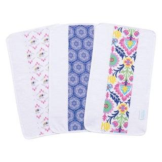Trend Lab Waverly Baby Santa Maria Jumbo Cotton Burp Cloth Set (Pack of 3)