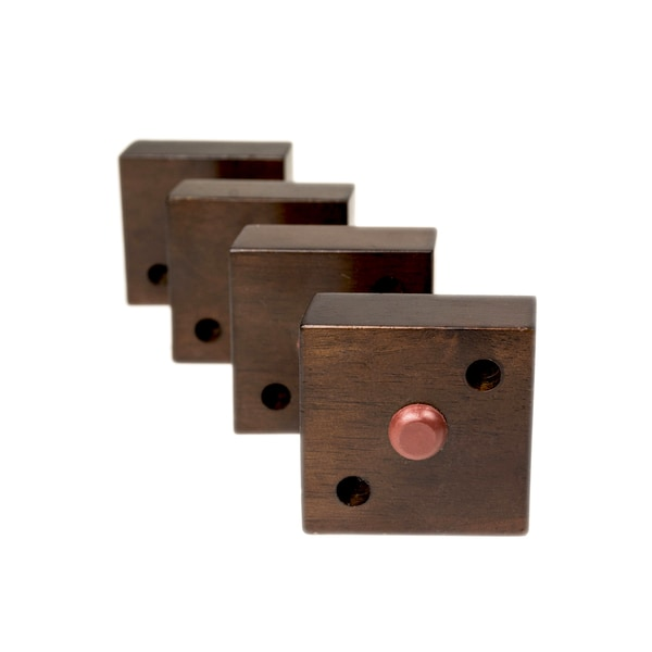 MJL Furniture Designs Small 1 1/8 Inch Tall Square Wooden Furniture Feet