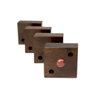 MJL Furniture Designs Small 1-1/8-inch Tall Square Wooden Furniture feet (Set of 4)