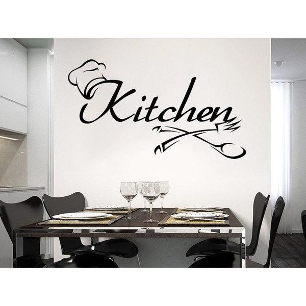 Cutlery Fork Spoon Vinyl Sticker Decals Kitchen Cafe Canteen Home Decor  Design Interior Sticker Decal Size