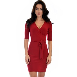 Lyss Loo Ride or Tie Bodycon Wrap Dress D11521