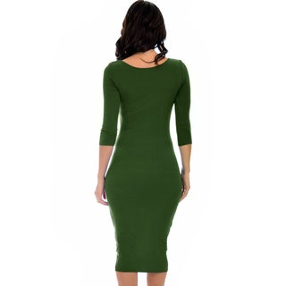 Lyss Loo True 2 You 3/4 Sleeve Midi Dress D2049