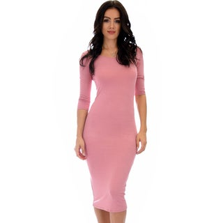 Lyss Loo True 2 You 3/4 Sleeve Midi Dress D2049 (More options available)