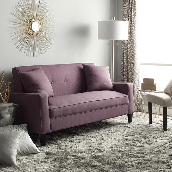 Portfolio Ellie Amethyst Purple Linen Sofa