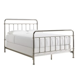 Giselle Graceful Lines Victorian Chrome Metal Bed by INSPIRE Q