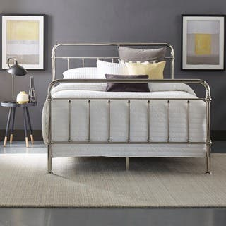 Giselle Graceful Lines Victorian Chrome Metal Bed by iNSPIRE Q Bold|https://ak1.ostkcdn.com/images/products/14084759/P20695151.jpg?impolicy=medium