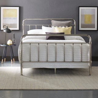 Giselle Graceful Lines Victorian Chrome Metal Bed by iNSPIRE Q Bold