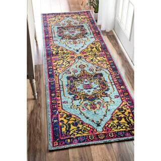 nuLOOM Traditional Vibrant Vines Ornamental Runner Rug (2'6 x 12')