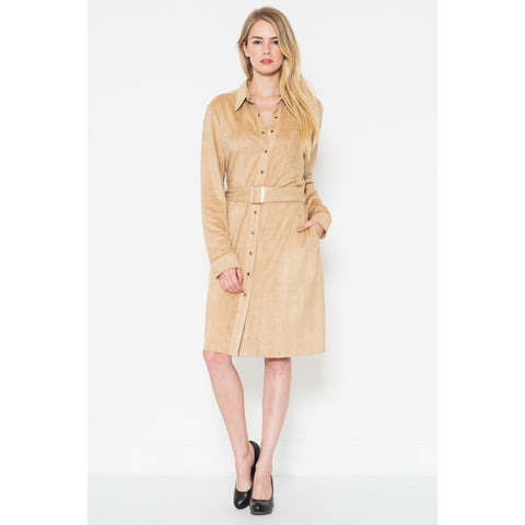 Morning Apple Women's Suede Belted Dress