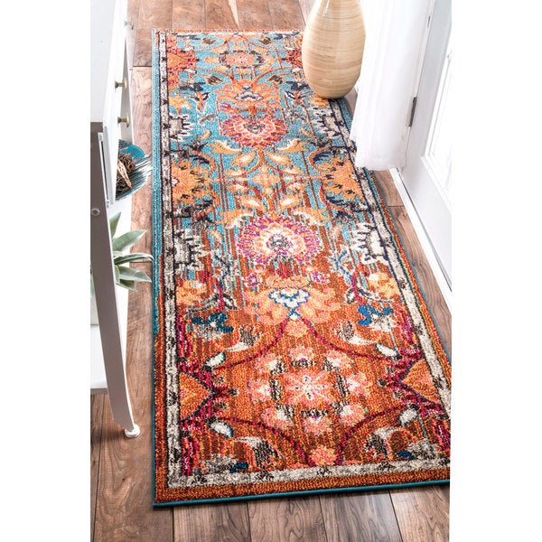 Shop Nuloom Traditional Flower Persian Multi Runner Rug