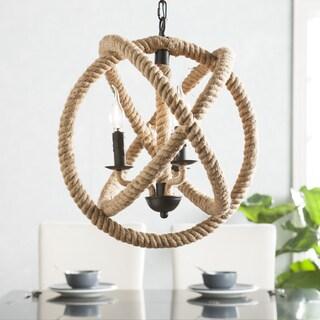 Harper Blvd Maybelle 3-Light Rope Orb Pendant Lamp