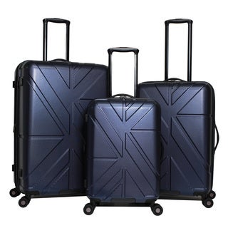 Ben Sherman Oxford 3-Piece Expandable Lightweight Spinner Luggage Set