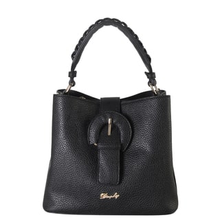 Rimen & Co. Front Magnet Buckle Woven Decor Handle Mini Hobo Handbag|https://ak1.ostkcdn.com/images/products/14084852/P20695200.jpg?impolicy=medium